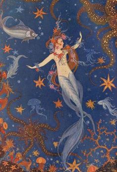 belaquadros:    The Little Mermaid by Wanda Ziegner-Ebel (1923)