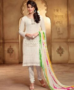 Picture of Classy White Designer Salwar Kameez