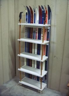 shelf made from old skis