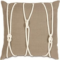 Yacht Knots Pillow: Beach Decor, Coastal Home Decor, Nautical Decor, Tropical Island Decor & Beach Cottage Furnishings