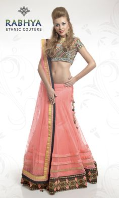 Style Code : RUJ530 - Lehenga Blouse  Blouse fully embroided with multicolor resham work and beads. Lehenga with aari work and laces border. Lehenga has beautiful long tassels adding a grace to the piece. Matching net dupatta with contrast tapes and deepak booties spread all over.  Get Dashing and beautiful outfits online, just log on to: www.rabhyaethnic.com or visit our store at: E-18, South Ex-II, New Delhi.