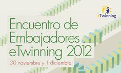 Anuncio Encuentro de Embajadores eTwinning a celebrar en Madrid los días 30 de noviembre y 1 de diciembre de 2012, en el que participó Sergio González Moreau