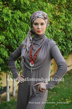 drapey scarf tails complement long necklace