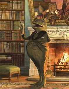 """Chris Dunn Illustration/Fine Art: September 2013 """"The Orator"""" Art And Illustration, Book Illustrations, Chris Dunn, Art Fantaisiste, Frog Art, Fantasy Kunst, Fantastic Art, Whimsical Art, Graphic"""