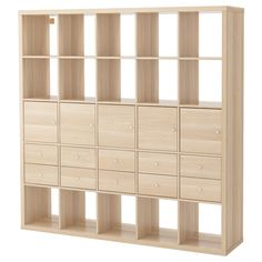 kallax-shelving-unit-with-10-inserts-white-stained-oak-effect__0480309_pe618893_s5.jpg (2000×2000)