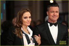 Brad Pitt & Angelina Jolie - BAFTAs 2014 Red Carpet | angelina jolie brad pitt 2014 baftas red carpet 04 - Photo