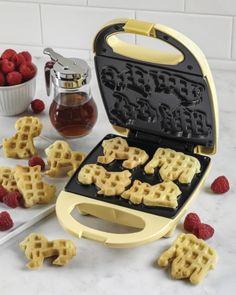Nostalgia Electrics - Circus Animal Waffle Maker - Yellow - Angle_Zoom