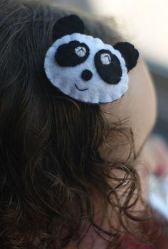 Panda hair clip