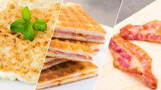 Waffeleisen-Hacks: Rührei, Bacon und eine Pizza Calzone