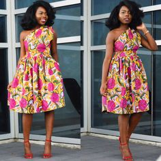 Stunning African clothing --- Pink and White Ankara fabric dress that hugs and flatters your figure. The dress is for the woman who loves luxurious