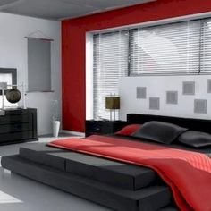 Black Grey Red Bedroom Google Search Interior Designs In 2019