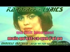 mireille mathieu - on ne vit pas sans se dire adieu - parole - YouTube