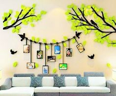 Awesome Wall Stickers For Your Home Decor There are so many different options of wall decor, like: self adhesive wall stickers, removable vinyl wall art stickers, wall art sticker designs, wa Family Wall Decor, 3d Wall Decor, Family Tree Wall, Diy Room Decor, Nursery Decor, Tree Wall Murals, Diy Wall Painting, Wall Stickers Home Decor, Vinyl Wall Art