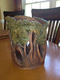 Pottery Art Tree Sculpture lantern on Etsy 150 00 Slab Pottery, Ceramic Pottery, Pottery Art, Ceramic Art, Pottery Sculpture, Kintsugi, Tree Sculpture, Sculptures, Tree Lanterns