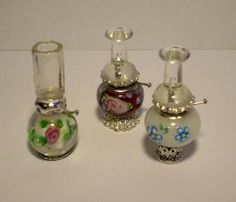 Miniature lamps made from beads and findings - aren't they cute?