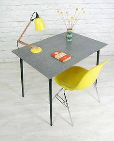 KANDYA RETRO VINTAGE FORMICA MID CENTURY KITCHEN TABLE DESK EAMES ERA 1950s 60s | eBay