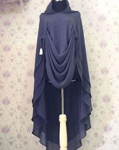 Info n order hub kontak bio Hijab Style Dress, Hijab Chic, Hijab Outfit, Muslim Women Fashion, Islamic Fashion, Abaya Fashion, Fashion Dresses, Mode Abaya, Modele Hijab
