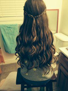 Really pretty curls I did on my friend!