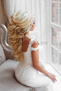 Hair Design For Wedding, Wedding Hair Half, Wedding Hair Inspiration, Wedding Hair And Makeup, Bridal Braids, Wedding Braids, Bridal Hair, Loose Hairstyles, Bride Hairstyles