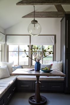 Emily Henderson Design Studio City House tour, part 3 - Dining nook styled for scouting - photography by Bethany Nauert,