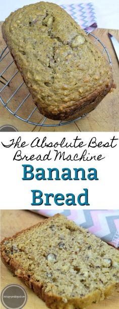 The Absolute Best Bread Machine Banana Nut Bread! This goes together quickly and… The Absolute Best Bread Machine Banana Nut Bread! This goes together quickly and the bread machine does all the work. Makes a great gift! Bread Machine Banana Bread, Easy Bread Machine Recipes, Best Bread Machine, Bread Maker Recipes, Best Banana Bread, Zojirushi Bread Machine, Breadmaker Bread Recipes, Bread Machine Mixes, Bread Machines