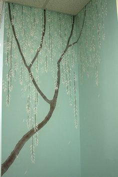 Tree mural for bedroom but with light purple background and wisteria hanging off the branches. is creative inspiration for us. Get more photo about diy home decor related with by looking at photos gallery at the bottom of this page. We are want to say thanks if you like to …