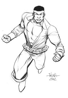 pre-NYCC sketch - Luke Cage by *marciotakara on deviantART Comic Book Characters, Comic Books Art, Comic Art, Luke Cage, Marvel Now, Marvel Comics, Defenders Marvel, Heroes For Hire, Power Man