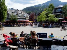 Whistler Village in the summer.
