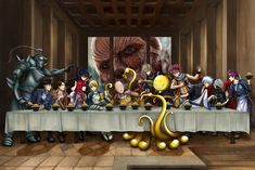The Last Supper - Anime crossover version by pixelmotron.deviantart.com on @DeviantArt
