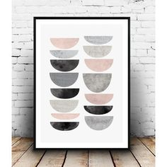 Scandinavian design, pink gray art, geometric print, watercolor art, black and white, marble print, minimalist poster, home wall art,