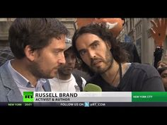 'Revolution is inevitable': Russell Brand hits Wall Street