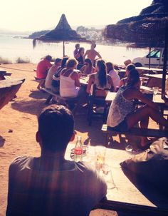 Chirincana beach bar bij Camping La Playa Ibiza   Playa Cala Martina, Es canar