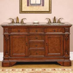 Diamonique Double Sink Bathroom Vanity By Legion Furniture 1479 40