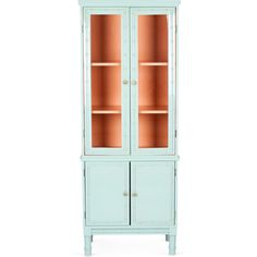 Painted bamboo curio cabinet