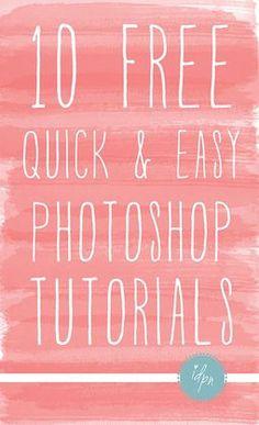 10 Free Photoshop Tutorials- Correcting Exposure, Removing Unwanted Objects, Basic Skin Fixes, etc