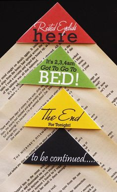 bookmarks -  figure out the fold, then we can create our own and put them out as a passive program in YA
