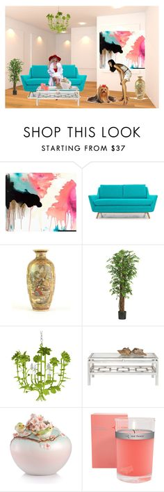 """""""Untitled #151"""" by rebeccahemphill ❤ liked on Polyvore featuring interior, interiors, interior design, home, home decor, interior decorating, Myne, Joybird Furniture, Nearly Natural and Stray Dog Designs"""