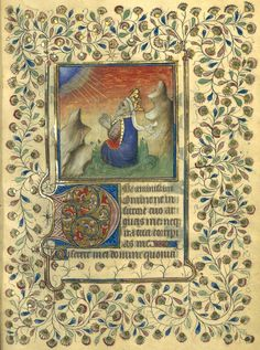 David pénitent (f°62r) -- «Horae ad usum Briocensem», 1410-1430, Bretagne [BNF Ms NAL 3194 - ark:/12148/btv1b53000324z]