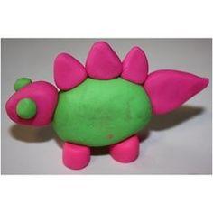 Le dinosaure en pâte à modeler - Magicmaman.com