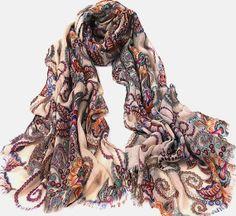 colorful sweet Scarf Shawl Wrap linen women por happyfamilyjudy, $38.00
