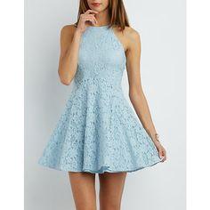 Floral Lace Skater Dress