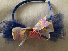 Tinkerbell Head Band by HelgasHairBowDesigns on Etsy