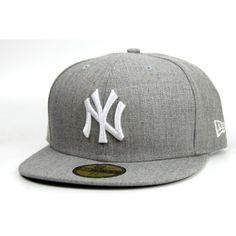 New Era Yankees Basic Cap - Heather Grey