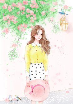 Cute Girl Drawing, Cartoon Girl Drawing, Girly Drawings, Anime Girl Drawings, Kawaii Anime Girl, Anime Art Girl, Cute Cartoon Girl, Cute Girl Wallpaper, Cartoon Art Styles