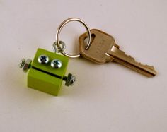 Orange Robot Key Chain Geek Key Ring par DeviceZero sur Etsy
