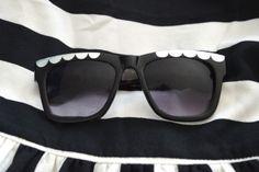 Black Tie Affair Frames. | Community Post: 17 Festive DIY Sunglasses