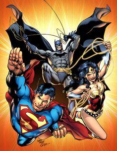 Superman, Wonder Woman & Batman by Ivan Reis