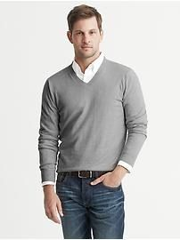 Cotton/Cashmere Vee | Banana Republic