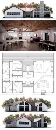 Floor area: 2002 sq ft Building area: 2296 sq ft Bedrooms: 3 Bathrooms: 2 Floors: 1 Height: 16′ 5″ Width: 64′ 4″ Depth: 40′ 4″