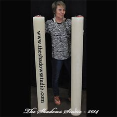 This size is perfect for wedding candles and when the celebrating is over you can use this large extra tall giant candle to make a lot of future memories. Giant Candles, Large Candles, White Candles, Rustic Candles, Pillar Candles, Candels, Ancient Artifacts, Burning Candle, Picture Show